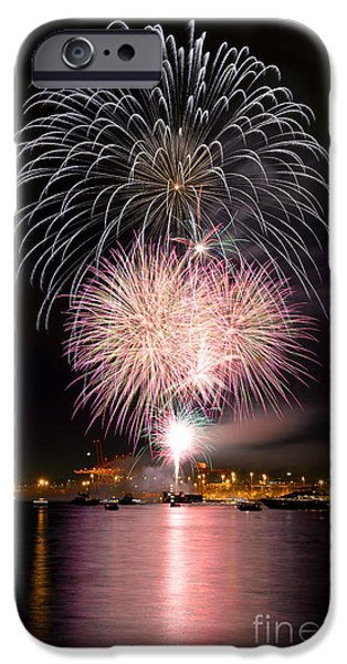 Burrard Inlet iPhone Cases - Vancouver Canada Day Fireworks 2014 - 3 iPhone Case by Terry Elniski