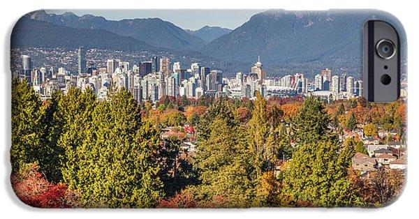 Queen Elizabeth iPhone Cases - Vancouver City showing its Autumn Colors iPhone Case by Pierre Leclerc Photography
