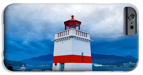 Lighthouse iPhone Cases - Vancouvers Brockton Point Lighthouse iPhone Case by Ken McAllister