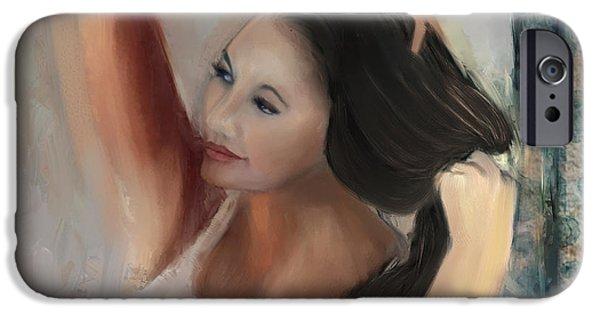 Model iPhone Cases - Vanessa iPhone Case by Sydne Archambault