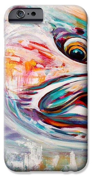 Vanishing Native - Steelhead Trout Flyfishing Art iPhone Case by Mike Savlen