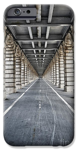 Symetry iPhone Cases - Vanishing point iPhone Case by Delphimages Photo Creations
