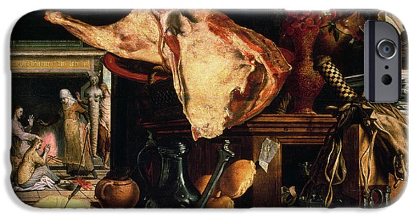 Raw iPhone Cases - Vanitas Still Life iPhone Case by Pieter Aertsen