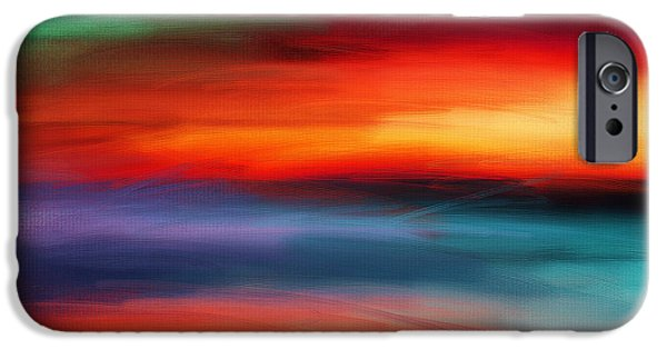 Abstract Seascape iPhone Cases - Vanity Of Its Rays iPhone Case by Lourry Legarde