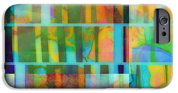 Abtracts iPhone Cases - Variation on a Theme abstract art iPhone Case by Ann Powell