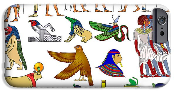 Horus iPhone Cases - Various themes of ancient Egypt iPhone Case by Michal Boubin