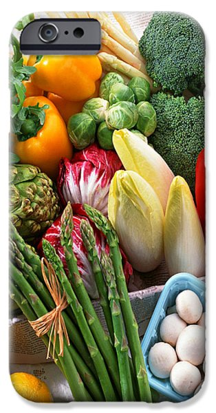 Various Vegetables iPhone Case by Lanjee Chee