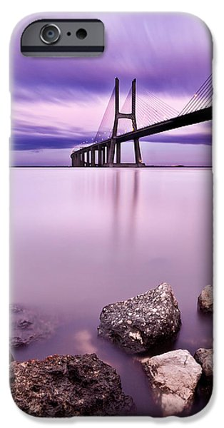 Vasco da Gama bridge iPhone Case by Jorge Maia