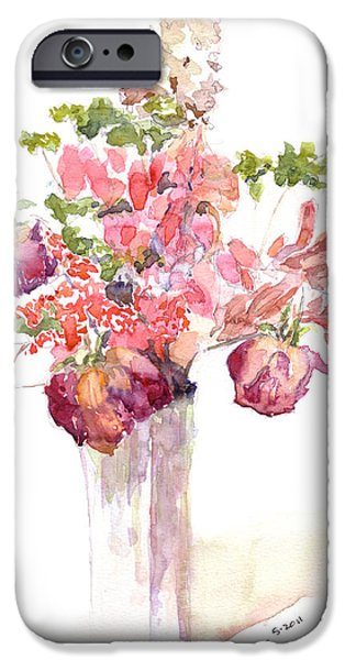 Vase of Dried Flowers iPhone Case by Claudia Hafner