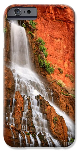 Red Rock iPhone Cases - Vaseys Paradise iPhone Case by Inge Johnsson