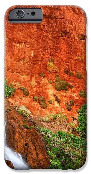Vaseys Paradise Twin Falls iPhone Case by Inge Johnsson