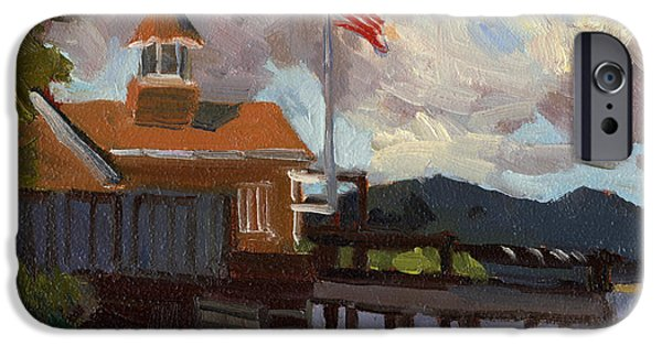 4th July Paintings iPhone Cases - Vashon Island 4th of July iPhone Case by Diane McClary
