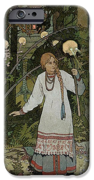 Ghoul iPhone Cases - Vassilissa in the Forest iPhone Case by Ivan Bilibin