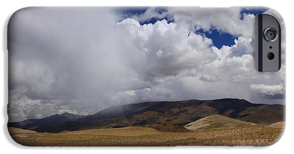 Tibetan Buddhism iPhone Cases - Vastness of Tibet iPhone Case by Kirill Kamionsky