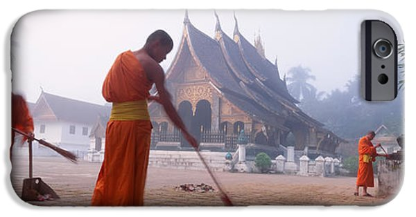 Sweeps iPhone Cases - Vat Xieng Thong, Luang Prabang, Laos iPhone Case by Panoramic Images
