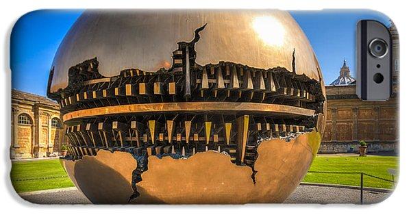 Pope iPhone Cases - Vatican Garden Sphere iPhone Case by Erik Brede