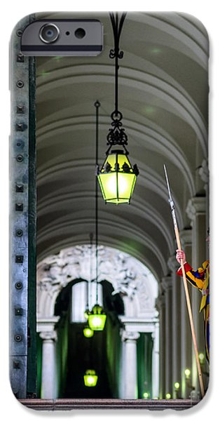 Vatican iPhone Cases - Vatican guard iPhone Case by Frank Bach