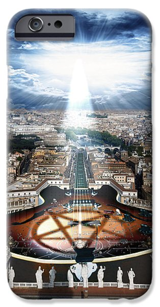 Pope iPhone Cases - Vatican Rocking View iPhone Case by Marian Voicu