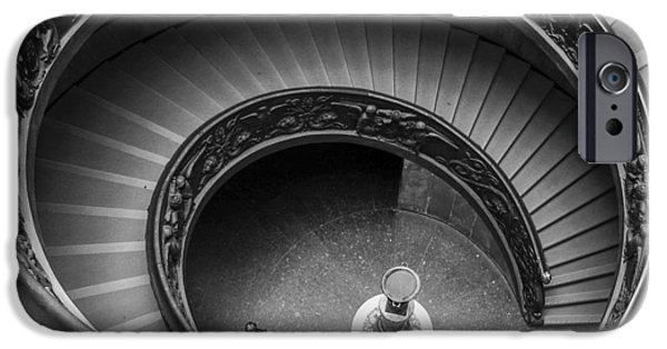 Vatican iPhone Cases - Vatican Stairs iPhone Case by Adam Romanowicz