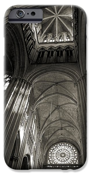 Vaults of Rouen Cathedral iPhone Case by RicardMN Photography