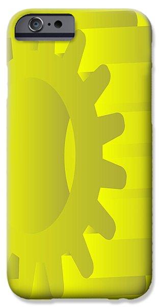 vector gears iPhone Case by Michal Boubin