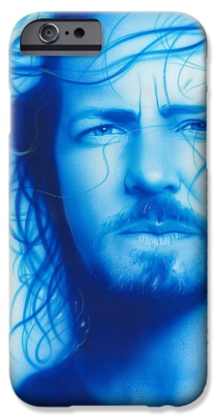 Cool Art iPhone Cases - Vedder iPhone Case by Christian Chapman Art