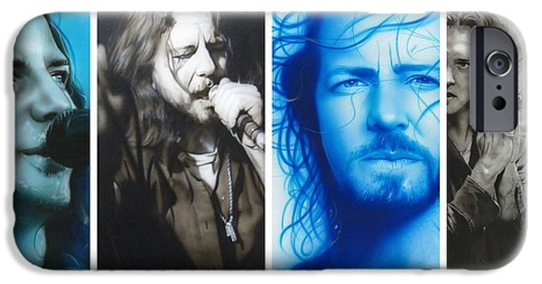 Celebrities Art iPhone Cases - Vedder Mosaic I iPhone Case by Christian Chapman Art