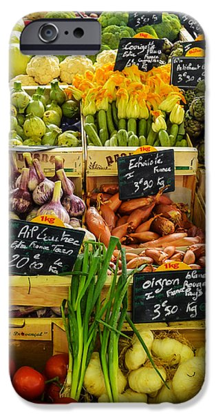 Best Sellers -  - French Open iPhone Cases - Veg at Marche Provencal iPhone Case by Allen Sheffield