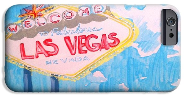 Fabulous Gifts iPhone Cases - Vegas iPhone Case by Marisela Mungia