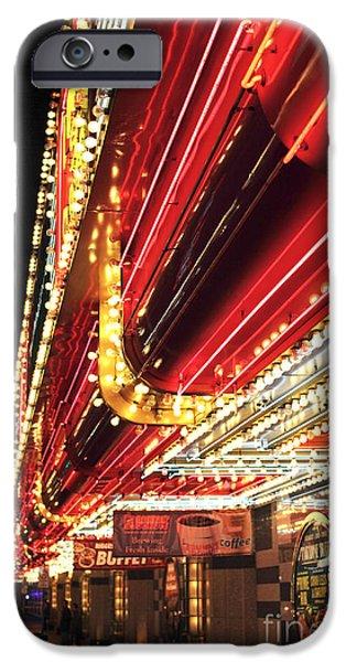 Vegas Neon iPhone Case by John Rizzuto