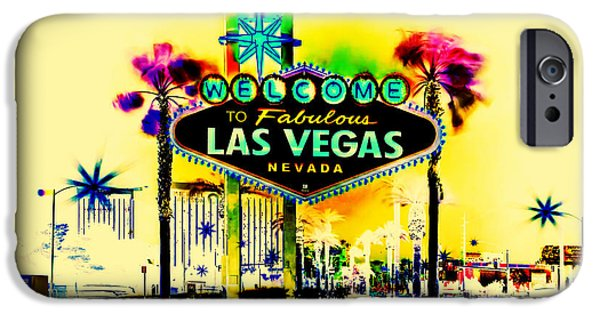 Sign iPhone Cases - Vegas Weekends iPhone Case by Az Jackson