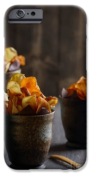 Chip iPhone Cases - Vegetable Crisps iPhone Case by Amanda And Christopher Elwell