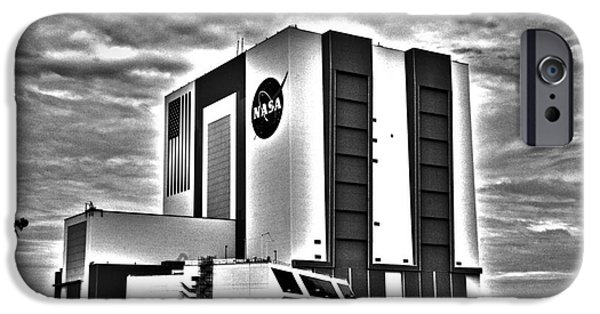 Flight iPhone Cases - Vehicle Assembly building iPhone Case by Rick Bravo