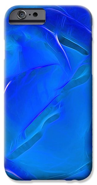 Veil of Blue iPhone Case by Kaye Menner