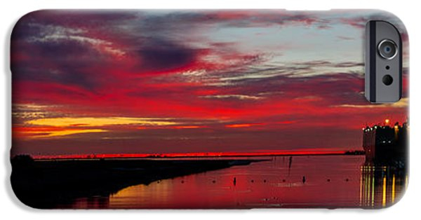 Silhoette iPhone Cases - Velvet Red Sunset iPhone Case by Milton Elliott