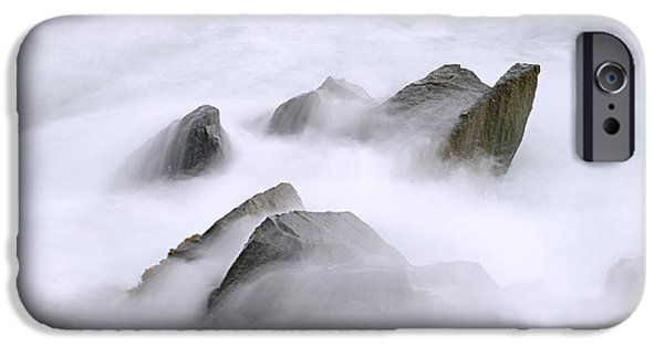 Tidal Photographs iPhone Cases - Velvet Surf iPhone Case by Marty Saccone