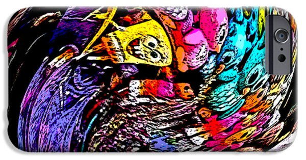 Balloon Vendor iPhone Cases - Vendors Cart on a Roll iPhone Case by Marian Bell