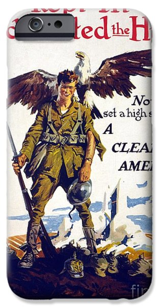 Wwi iPhone Cases - Venereal Disease Poster (1918-1920) iPhone Case by Library Of Congress