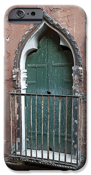 Venetian Balcony iPhone Cases - Venetian door. iPhone Case by Fernando Barozza