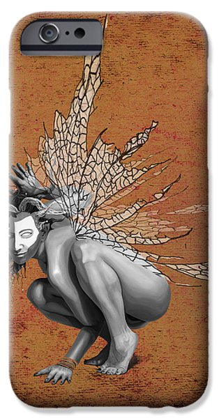 Tinker Bell iPhone Cases - Venetian Fairy iPhone Case by Kd Neeley