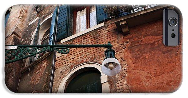 Venetian Doors iPhone Cases - Venetian Lamp Post iPhone Case by John Rizzuto