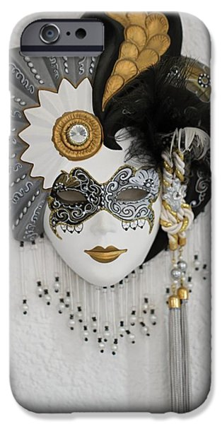 Object Ceramics iPhone Cases - Venetian mask iPhone Case by FL collection