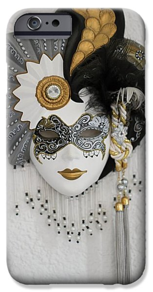 Texture Ceramics iPhone Cases - Venetian mask iPhone Case by FL collection