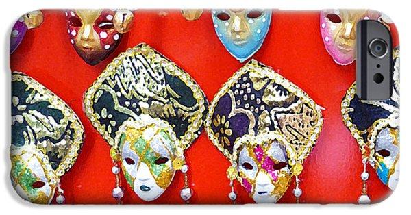 Parade iPhone Cases - Venetian Masks  iPhone Case by Irina Sztukowski