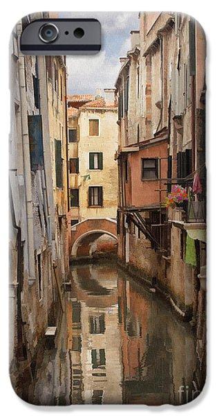 Venetian Doors iPhone Cases - Venetian Reflection iPhone Case by Sharon Foster