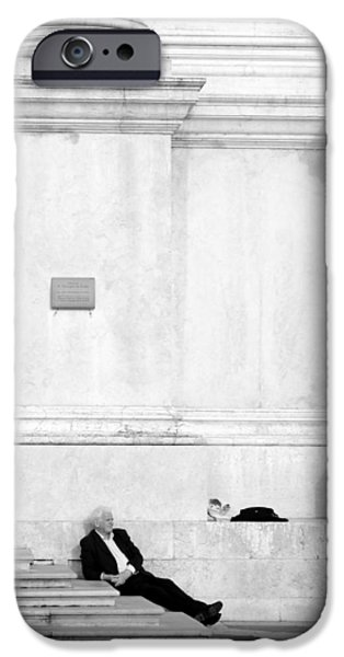 Well Dressed iPhone Cases - Venetian Rest iPhone Case by Valentino Visentini