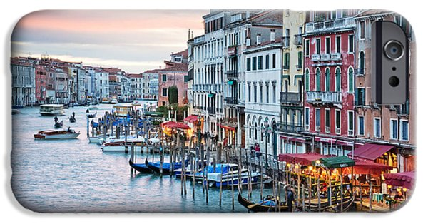 Facade iPhone Cases - Venetian sunset iPhone Case by Delphimages Photo Creations