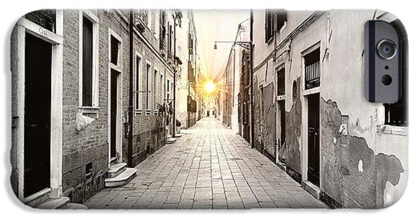 Venetian Doors iPhone Cases - Venetian Supernova iPhone Case by Valentino Visentini