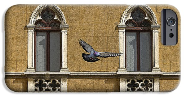 Venetian Balcony iPhone Cases - Venetian Window iPhone Case by Ayhan Altun
