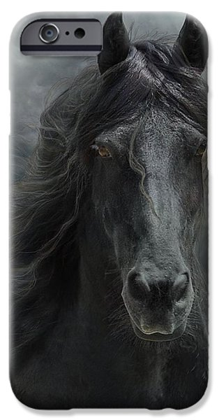 Horses Digital Art iPhone Cases - Veni vidi vici  iPhone Case by Fran J Scott